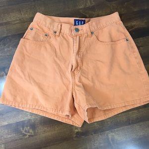 Gap High Rise Orange Shorts